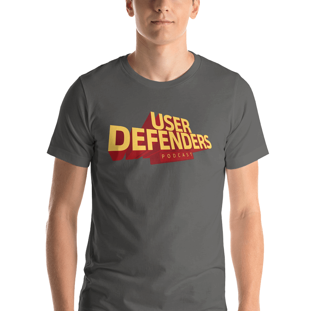 b849b6a08 UD Logo Unisex T-Shirt (double-sided)   User Defenders